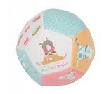 Pastellfarget myk ball til baby - Moulin Roty