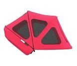 Neon red breezy sommerkalesje,  Bugaboo donkey
