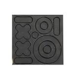O + I svart, selvklebende refleks