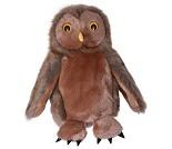 Brun ugle - hånddukke, 28 cm