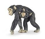 Sjimpanse med baby - Miniatyrfigur fra PAPO
