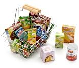 Handlekurv med matvarer