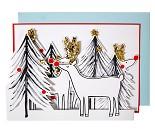Reinsdyr, papirrad - kort fra Meri Meri