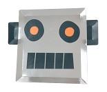 Papptallerken med robot, 8 stk - Meri Meri