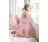 Rosa tyllsjørt og vinger, 4-7 år, kostyme