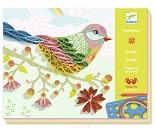 Lag fugler med papirspiraler, hobbysett fra Djeco