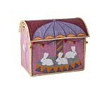 Rosa kurvhus med kaniner, oppbevaring - Rice