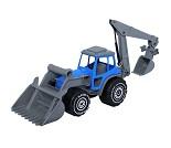 Traktor med graver, 48 cm - 4 fargevalg