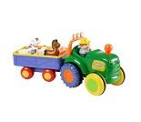 Traktor og tilhenger med lyd