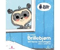 Brillebjørn blir henta i barnehagen, eventyrbok
