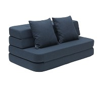 Mørkeblå KK3 fold sofa/ madrass XL - by KlipKlap