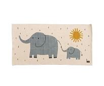 Vevet gulvteppe med elefanter - Roommate