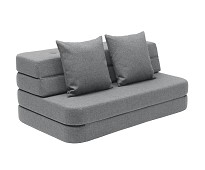Grå KK3 fold sofa / madrass XL - by KlipKlap