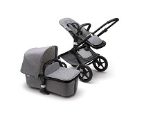 Grey Melange / sort, Bugaboo Fox C..