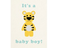 Its a boy, tiger - kort med konvolutt
