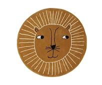 Gulvteppe i ull, løve - OYOY