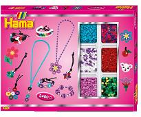 Lage smykker, midi perlesett 2400 perler - Hama