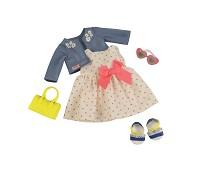 Kjole med hjerter, dukkeklær - Our Generation