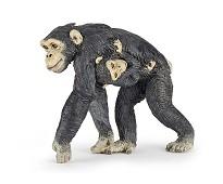 Sjimpanse med baby miniatyrfigur - Papo