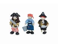 3 pirat-figurer i treverk - Le Toy Van