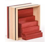 Røde Kapla byggeklosser, 40 klosser i treverk