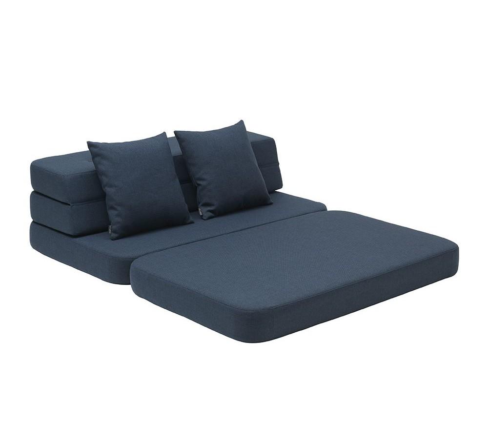 bbb7aba74eab Mørkeblå KK3 fold sofa  madrass XL - by KlipKlap