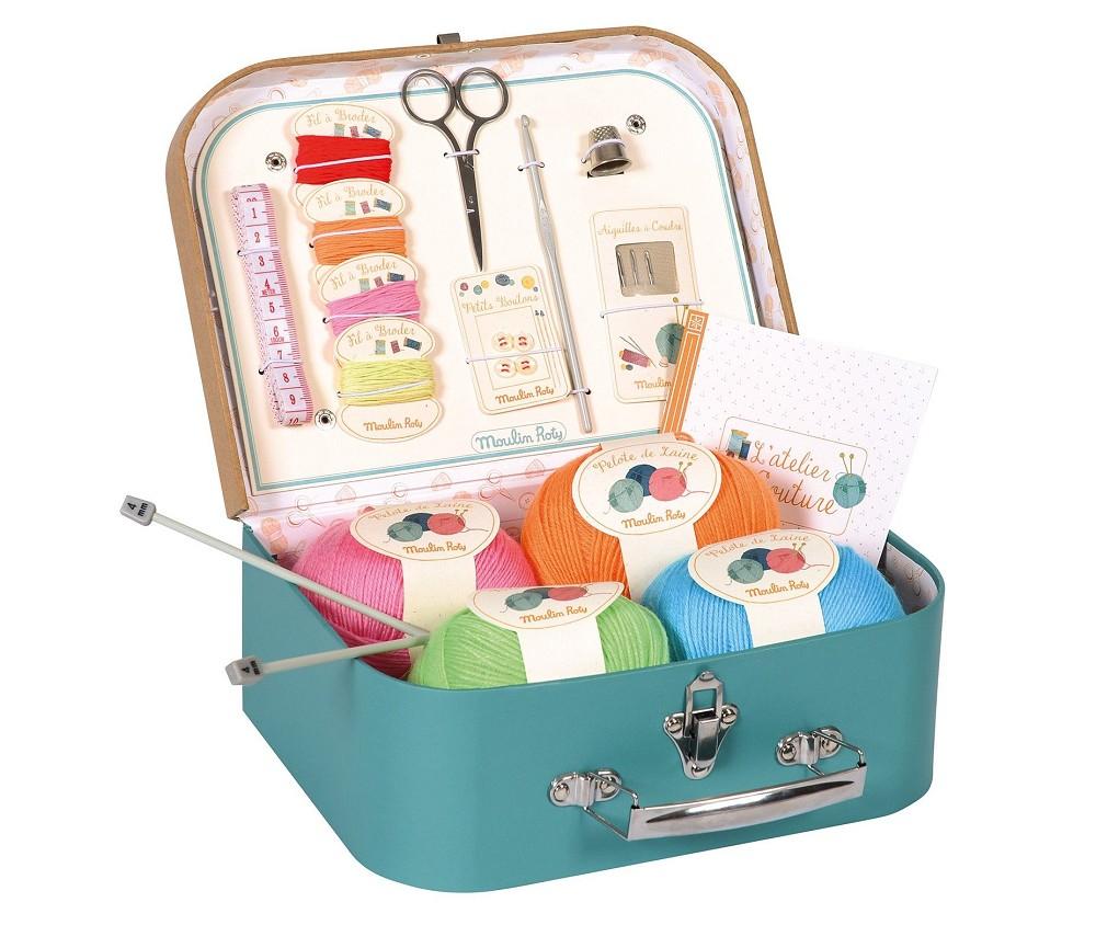 Koffert med strikkeutstyr - Moulin Roty ... a32d86fd5001f