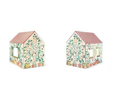 Leketelt, hus med blomster Djeco