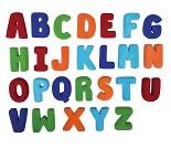 Alfabetet, figurer i naturgummi fra Rubbabu