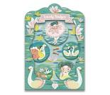 5 buttons med ballerinaer og svaner fra Djeco
