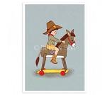 Cowboy, postkort