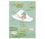 Papirbåt, postkort