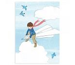 Papirfly, postkort