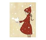 Snødue, postkort