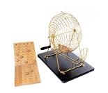 Stor bingo med tombola i metall med 75 kuler
