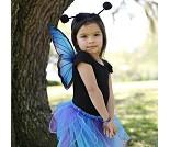 Sommerfugl med skjørt, vinger og hårbøyle, kostyme