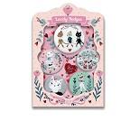 5 buttons med katter fra Djeco