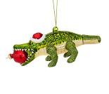 Juletrepynt med alligator