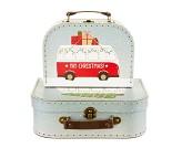 Koffertsett med julemotiv, 2 stk