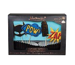 Superhelt cupcake kit, 24 stk