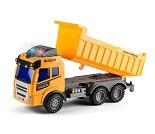 Lastebil med lasteplan og lyd og lys, 28 cm