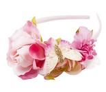 Hårbøyle med rosa blomster