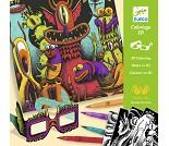 Fargelegg monster og se i 3D, hobbysett - Djeco