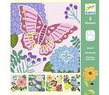 Sjablonger med sommerfugl, hobbysett fra Djeco