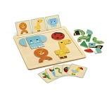 Magnetspill med dyr og former fra Djeco