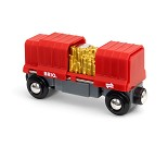 Togvogn med gullast fra Brio