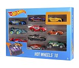 Hot Wheels, sett med 10 racerbiler