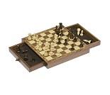 Magnetisk sjakk i tre med skuffer