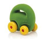 Grønn bil i naturgummi, 12 cm fra Rubbabu