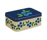 Blåbær, blå matboks i metall fra Blafre